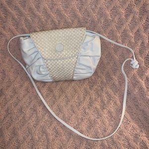 Auth Fendi Vintage white leather woven bag 1970's